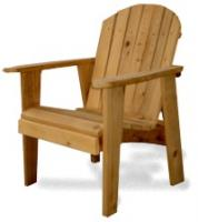 Don�t forget the kids� needs. We have the Junior Chairs, Buddy Benches, Junior Tables and the all time favorite; seesaws.   We offer volume discounts on orders for 10 or more pieces.  Your Adirondack Western Red Cedar Furniture will ship partially assembled. Easy to follow instructions, glue and all the hardware are included.  We attend several trade shows per month. Contact us for our show schedule or with any questions on our Adirondack Furniture   Whenever you invest in one of our pieces, rest assured that you are getting the finest craftsmanship available. That fact is reflected in our warranty, which is very simple.  Our Pledge: If for any reason your Adirondack Furniture does not live up to your expectations, let us know, and we will make it right.